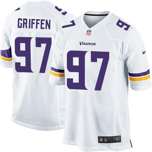 Nike Vikings #97 Everson Griffen White Youth Stitched NFL Elite Jersey