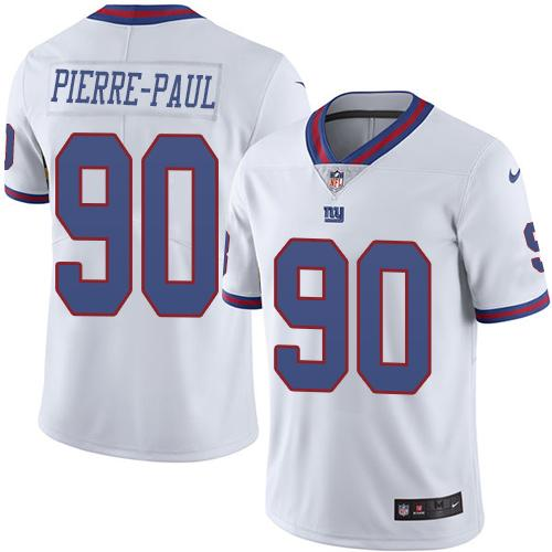 Nike Giants #90 Jason Pierre-Paul White Youth Stitched NFL Limited Rush Jersey