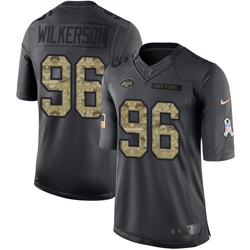 Nike Jets #96 Muhammad Wilkerson Black Youth Stitched NFL Limited 2016 Salute to Service Jersey