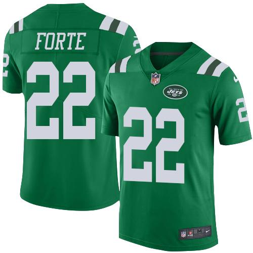Nike Jets #22 Matt Forte Green Youth Stitched NFL Elite Rush Jersey