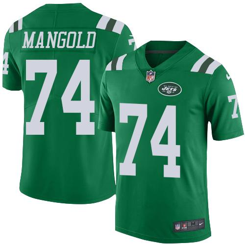 Nike Jets #74 Nick Mangold Green Youth Stitched NFL Elite Rush Jersey