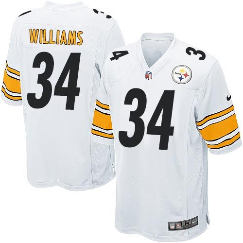 Nike Steelers #34 DeAngelo Williams White Youth Stitched NFL Elite Jersey
