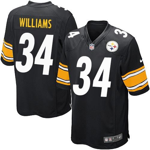 Nike Steelers #34 DeAngelo Williams Black Team Color Youth Stitched NFL Elite Jersey