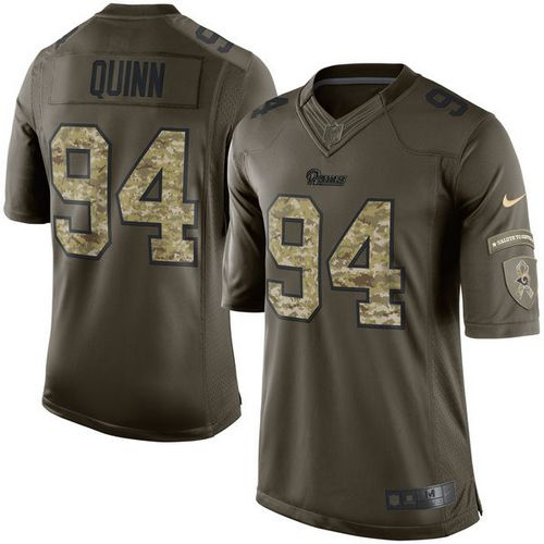 Nike Rams #94 Robert Quinn Green Youth Stitched NFL Limited Salute to Service Jersey