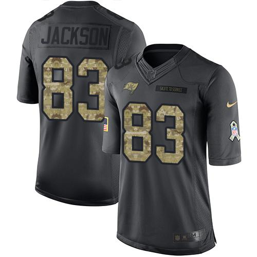 Nike Buccaneers #83 Vincent Jackson Black Youth Stitched NFL Limited 2016 Salute to Service Jersey