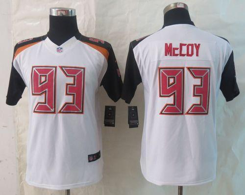 Nike Buccaneers #93 Gerald McCoy White Youth Stitched NFL New Limited Jersey