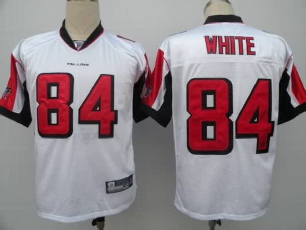 Falcons #84 Roddy White White Color Stitched Youth NFL Jersey