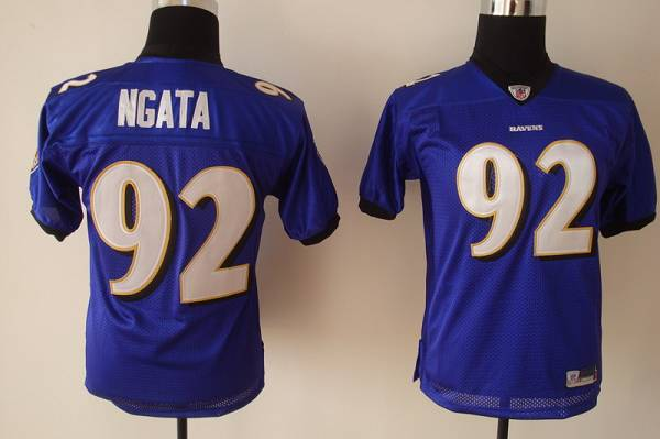 Ravens #92 Haloti Ngata Purple Stitched Youth NFL Jersey