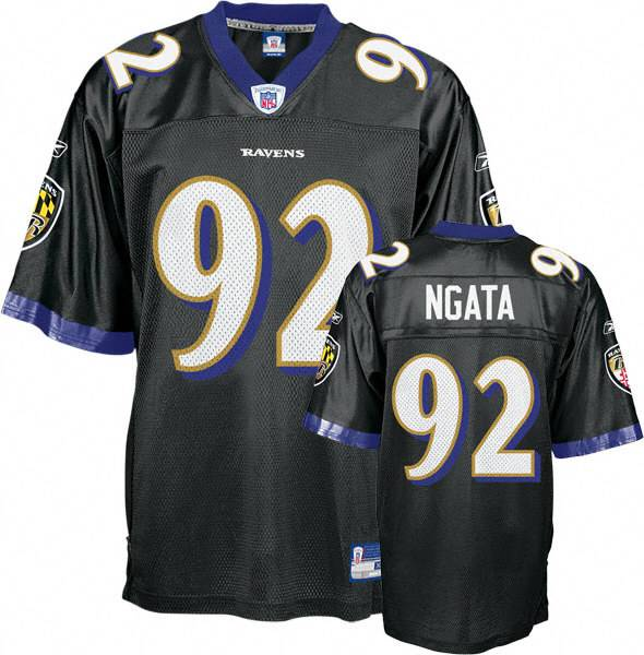 Ravens #92 Haloti Ngata Black Stitched Youth NFL Jersey