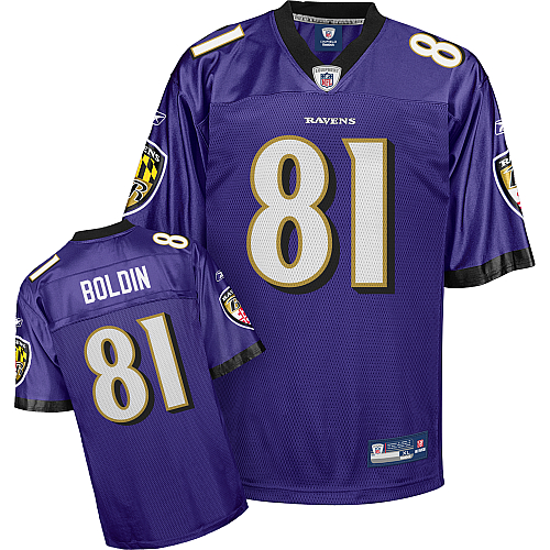 Ravens #81 Anquan Boldin Purple Stitched Youth NFL Jersey