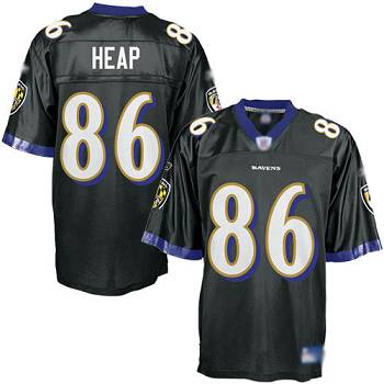 Ravens #86 Todd Heap Black Stitched Youth NFL Jersey