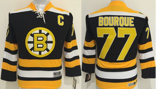 Bruins #77 Ray Bourque Black CCM Youth Stitched NHL Jersey