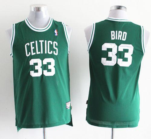 Celtics #33 Larry Bird Green Throwback Stitched Youth NBA Jersey