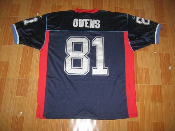 Bills #81 Terrell Owens Navy Blue Stitched Youth NFL Jersey