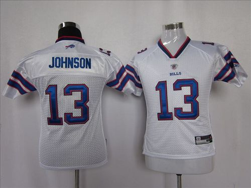 Bills #13 Steve Johnson White 2011 New Style Stitched Youth NFL Jersey