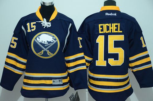 Sabres #15 Jack Eichel Navy Blue Youth Stitched NHL Jersey