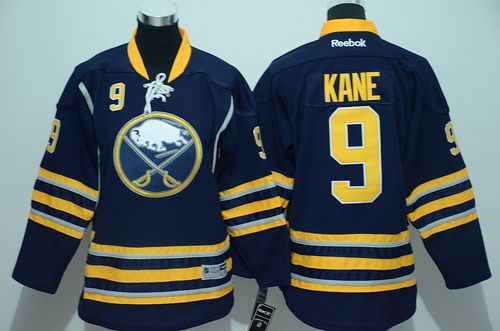 Sabres #9 Evander Kane Navy Blue Youth Stitched NHL Jersey