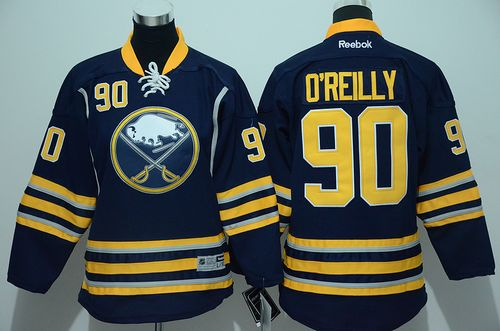 Sabres #90 Ryan O'Reilly Navy Blue Youth Stitched NHL Jersey