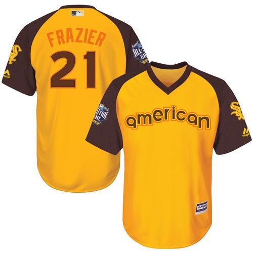 White Sox #21 Todd Frazier Gold 2016 All-Star American League Stitched Youth MLB Jersey