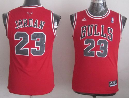 Bulls #23 Michael Jordan Stitched Red Youth NBA Jersey