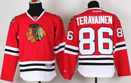 Blackhawks #86 Teuvo Teravainen Red Stitched Youth NHL Jersey