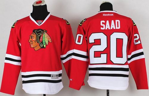Blackhawks #20 Brandon Saad Red Stitched Youth NHL Jersey