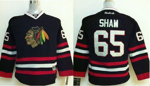 Blackhawks #65 Andrew Shaw Black Stitched Youth NHL Jersey