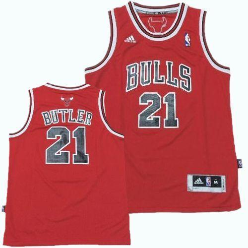 Bulls #21 Jimmy Butler Red Revolution 30 Stitched Youth NBA Jersey