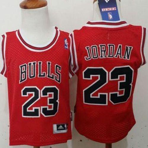 Toddler Bulls #23 Michael Jordan Red Stitched NBA Jersey