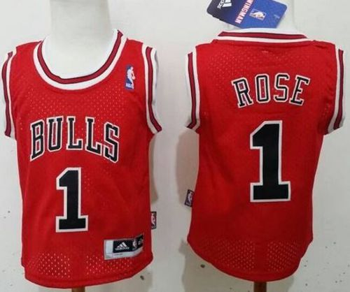 Toddler Bulls #1 Derrick Rose Red Stitched NBA Jersey