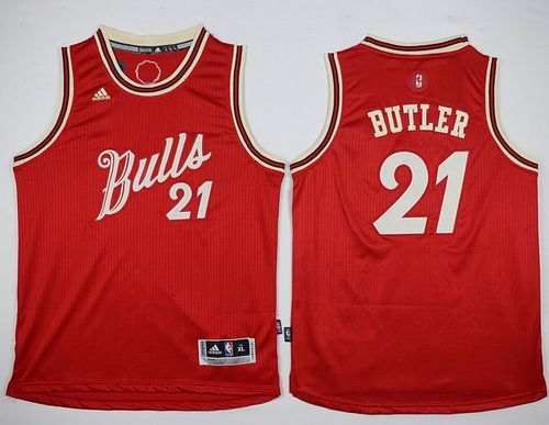 Bulls #21 Jimmy Butler Red 2015-2016 Christmas Day Stitched Youth NBA Jersey