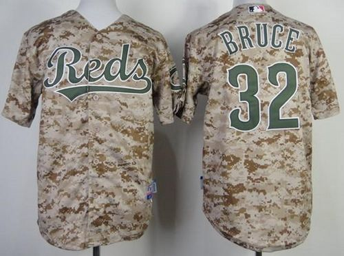 Reds #32 Jay Bruce Camo Cool Base Stitched Youth MLB Jersey