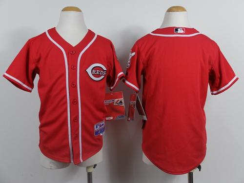 Reds Blank Red Cool Base Stitched Youth MLB Jersey