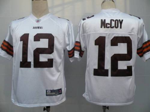 Browns #12 Colt McCoy White Stitched Youth NFL Jersey