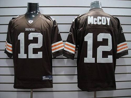 Browns #12 Colt McCoy Brown Stitched Youth NFL Jersey