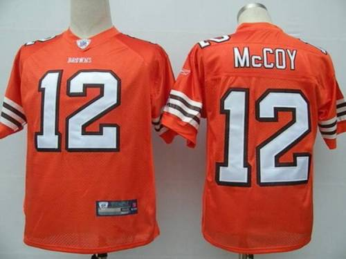 Browns #12 Colt McCoy Orange Stitched Youth NFL Jersey