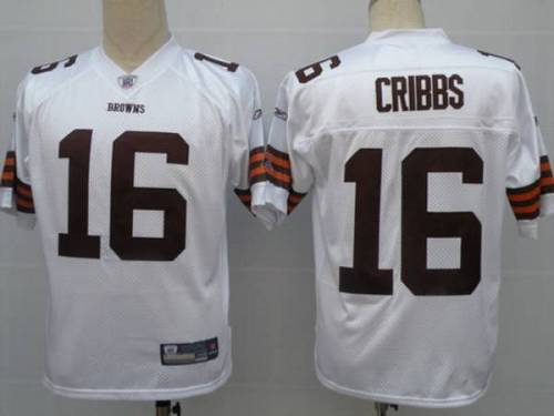 Browns #16 Joshua Cribbs White Stitched Youth NFL Jersey