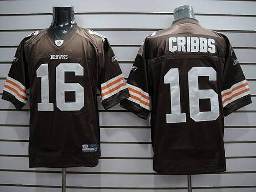 Browns #16 Joshua Cribbs Brown Stitched Youth NFL Jersey