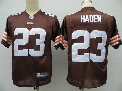 Browns #23 Joe Haden Brown Stitched Youth NFL Jersey