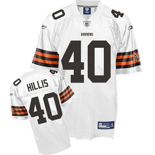 Browns #40 Peyton Hillis White Stitched Youth NFL Jersey