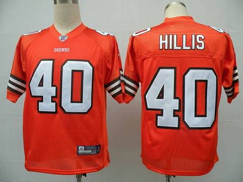 Browns #40 Peyton Hillis Orange Stitched Youth NFL Jersey