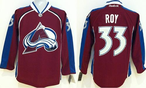 Avalanche #33 Patrick Roy Red Stitched Youth NHL Jersey