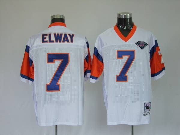 Broncos #7 John Elway White Stitched Youth NFL Jersey