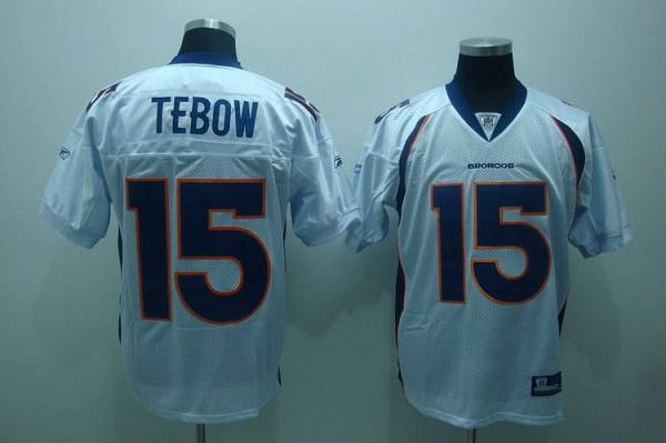 Broncos #15 Tim Tebow White Stitched Youth NFL Jersey