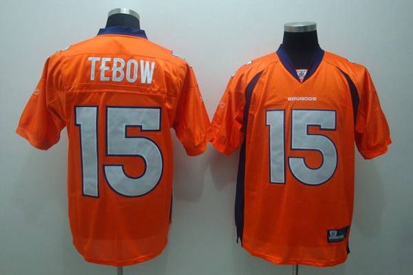 Broncos #15 Tim Tebow Orange Stitched Youth NFL Jersey
