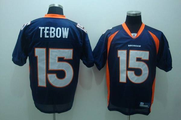 Broncos #15 Tim Tebow Blue Stitched Youth NFL Jersey