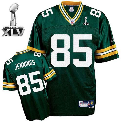 Packers #85 Greg Jennings Green Super Bowl XLV Stitched Youth NFL Jersey