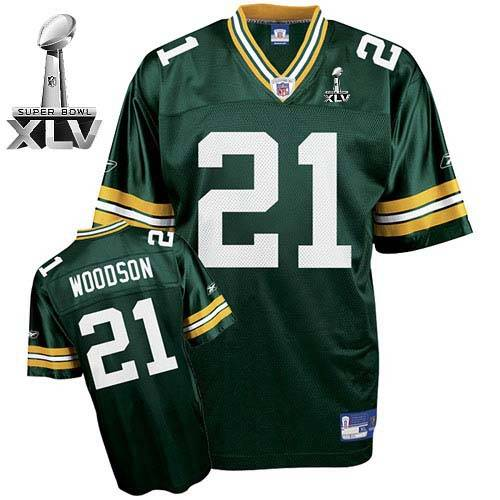 Packers #21 Charles Woodson Green Super Bowl XLV Stitched Youth NFL Jersey