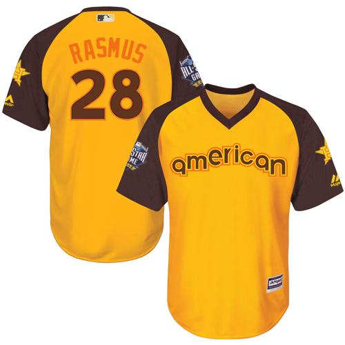 Astros #28 Colby Rasmus Gold 2016 All-Star American League Stitched Youth MLB Jersey