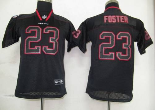 Texans #23 Arian Foster Lights Out Black Stitched Youth NFL Jersey